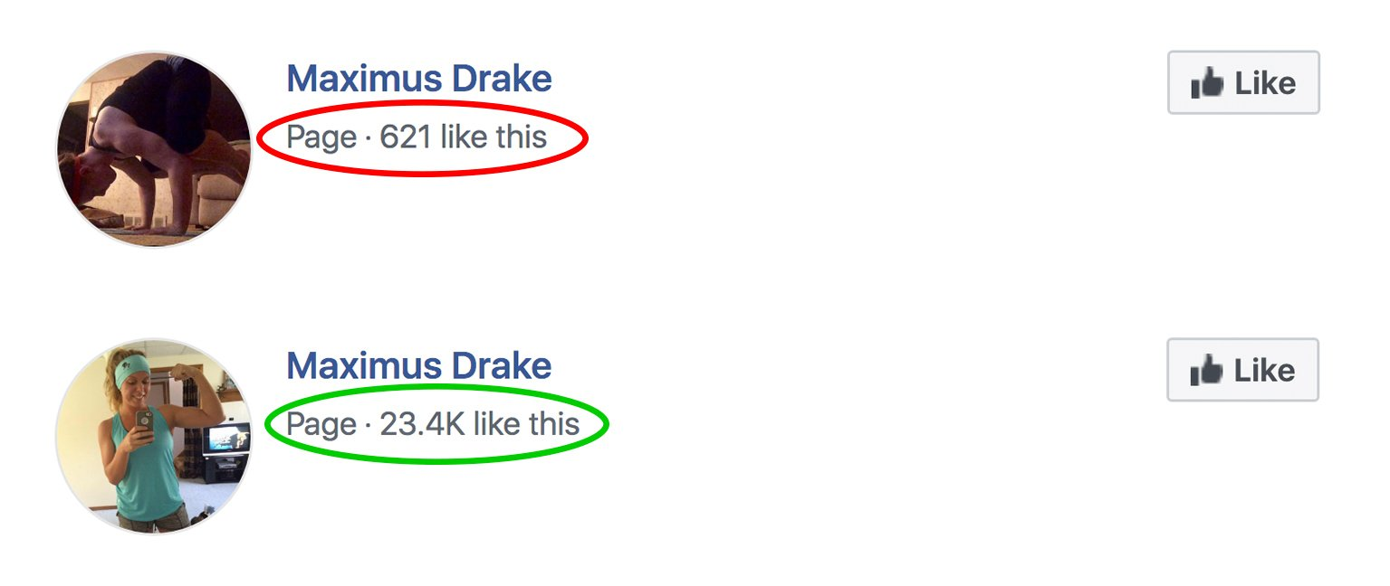 Facebook Page likes 8-1
