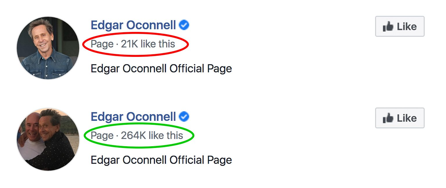 Facebook Page likes 9-1